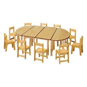 MD H5-3 안전원목책상(의자별매) 2000 1000 530