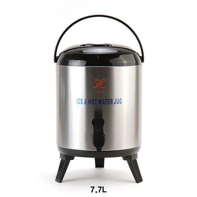 스테인리스 보온보냉 워터저그 보온물병-7.7L [제작 대량 도매 로고 인쇄 레이저 마킹 각인 나염 실크 uv 포장 공장 문의는 네이뽕]