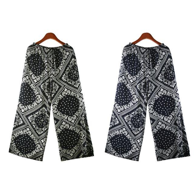 W 프론 패턴 여성 쿨 통바지 SD-210513