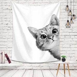 벽 가림막 포스터 빼꼼 고양이 인테리어소품 3size