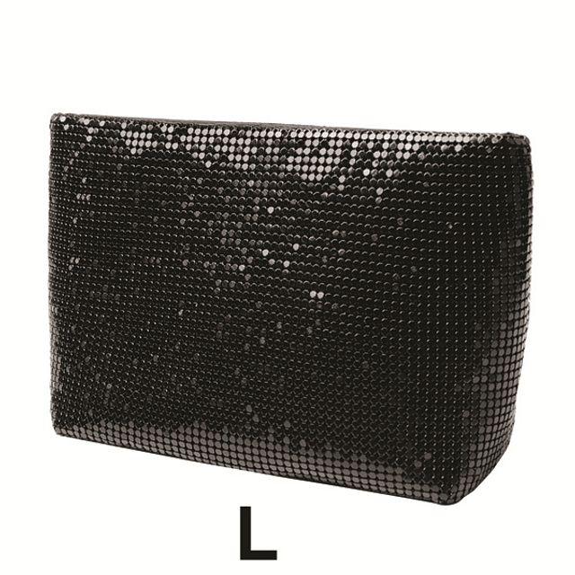 럭셔리 스타일 화장품 파우치(L)-블랙 [제작 대량 도매 로고 인쇄 레이저 마킹 각인 나염 실크 uv 포장 공장 문의는 네이뽕]