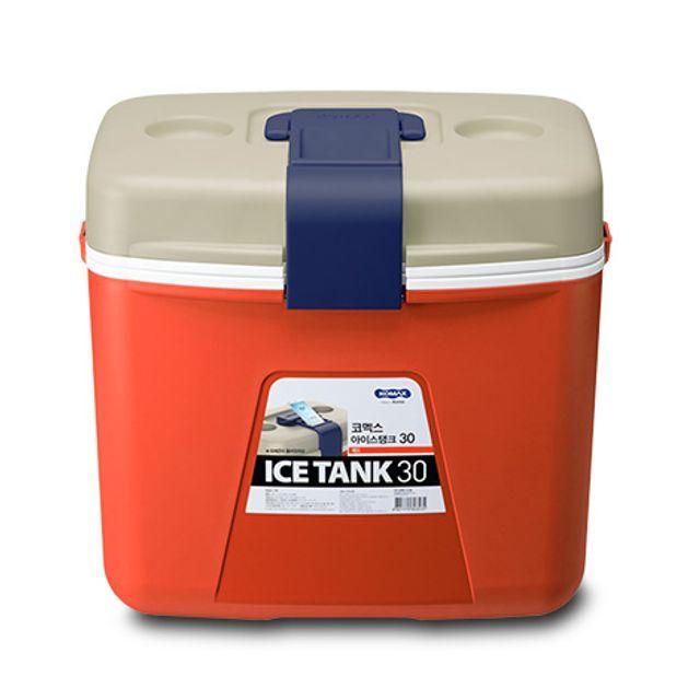 코멕스 아이스탱크 30L 아이스박스 캠핑 낚시 보냉 [제작 대량 도매 로고 인쇄 레이저 마킹 각인 나염 실크 uv 포장 공장 문의는 네이뽕]