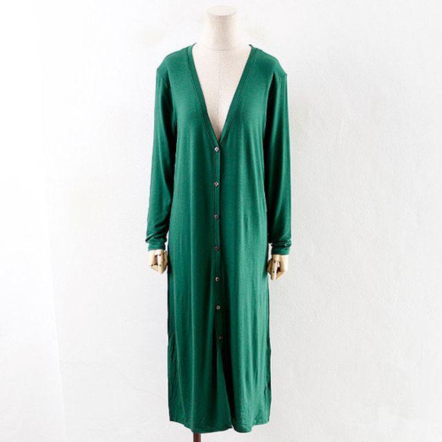 슬림 트임 롱가디건 봄 가을 여성 데일리 패션 재킷