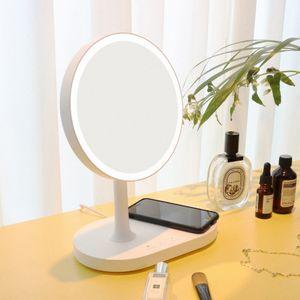 무선LED 화장대거울 탁상거울 휴대폰 무선충전 무드등