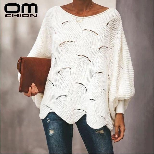 [해외] Omchion 플러스 사이즈 오버 사이즈 핑크 스웨터 여성