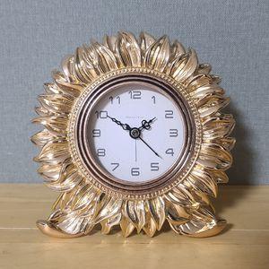 파인아트 해바라기 탁상시계 (골드)