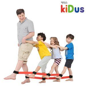 유아체육교구 지네발 릴레이게임 4인용 유아체육
