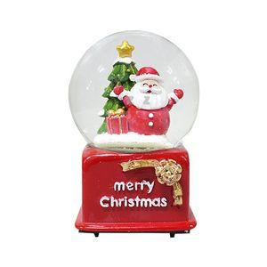 IS 크리스마스 빨간코 산타 워터볼 오르골