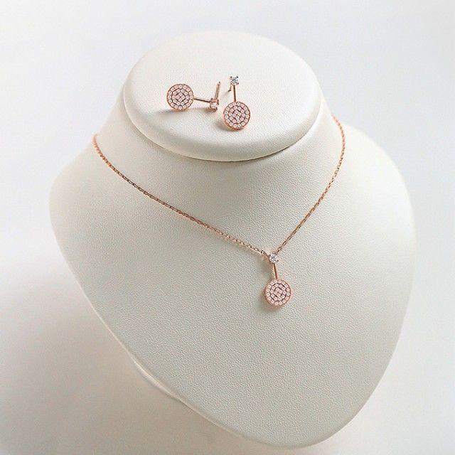 【韩国直邮】(N E)宝石套装(银色)3