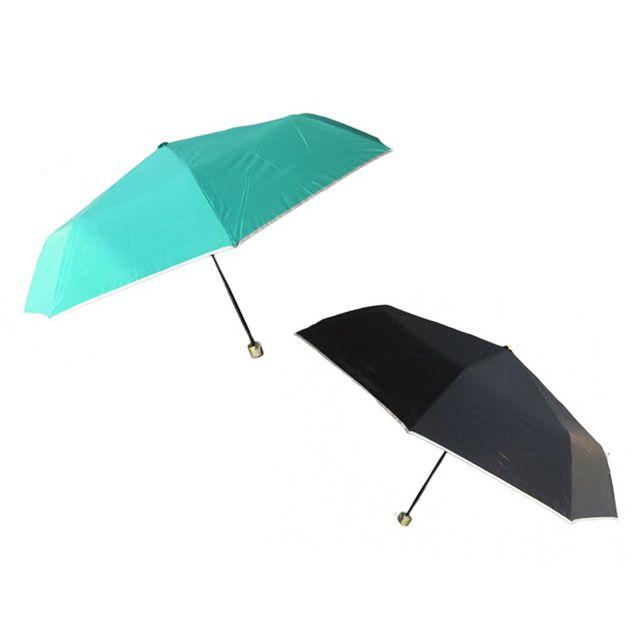 장마대비 출퇴근용 3단 폴리실버 반자동우산 색상랜덤