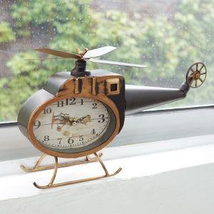 헬리곱터 탁상시계 (레드/블랙)