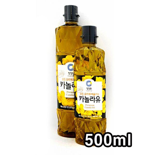 W 청정원 식용유 모든 요리유 카놀라유 500ml
