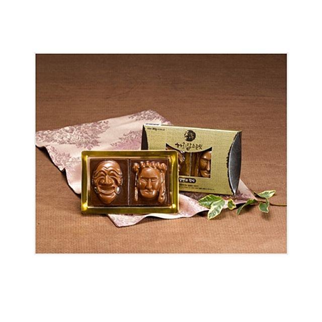 하회탈 수제초콜렛 양반과 각시 상황버섯 추출물과 초콜렛의 환상적인 조합,간식,선물,특산품,과자,영양