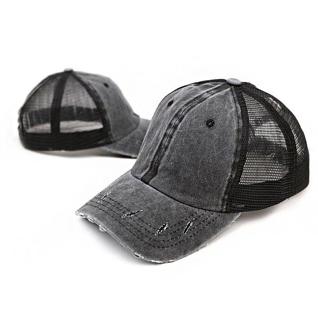W 남성 여성 빈티지 패션 모자 시원한 메쉬 캡 모자