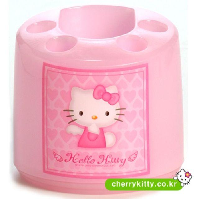 칫솔꽂이 키티 핑크 원형칫솔꽂이 칫솔걸이 칫솔홀더