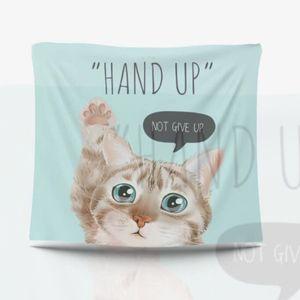 가림막 포스터 핸즈업 고양이 패브릭포스터 3size