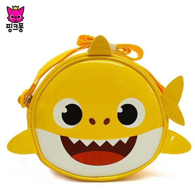 웰씨존 핑크퐁 아기상어 원형 비치크로스