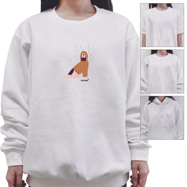 W 키밍 댕댕이 여성 남성 티셔츠 후드 맨투맨 반팔티