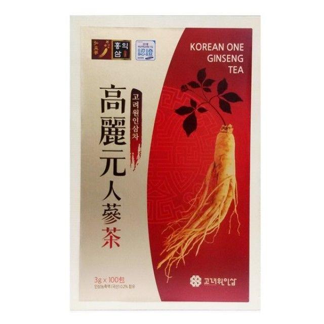 (高丽元)高丽人参茶100包(木箱)人参茶/红参茶/传统茶/健康茶/礼物用