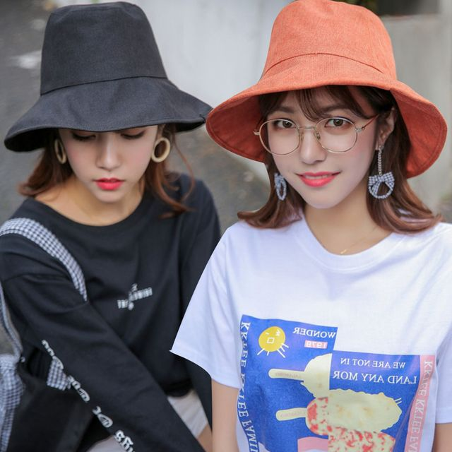 W 트렌디 외출 모자 코튼 소재 햇빛 차단 버킷햇 모자