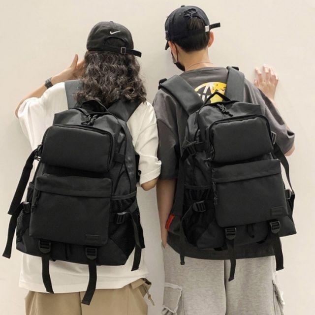 W 앞포켓 포인트 데일리 팩백 커플 남녀공용 캐주얼가방