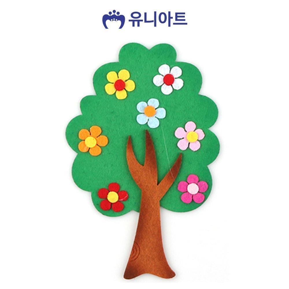 W3DCF36펠트 3500 꽃나무 초록 유아미술 만들기 공예 공작