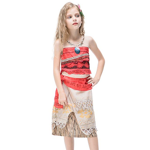 모아나 드레스 할로윈의상 코스튬 파티옷 여아드레스