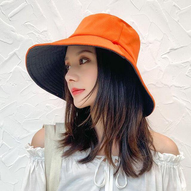 W 여성 양면 벙거지 썬캡 자외선 차단 비치모자 버킷햇