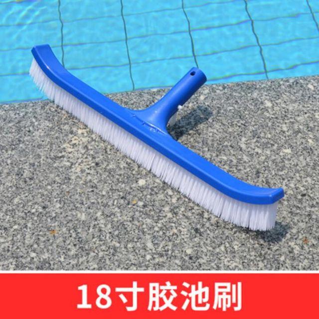 [해외] 수영장 청소기솔 밀걸레솔 수영용품 솔 18in