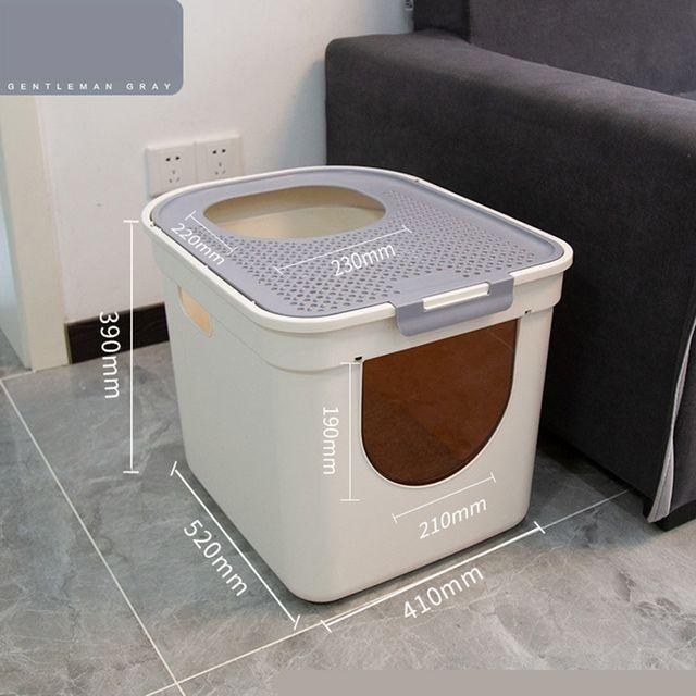 [해외] 고양이 화장실 15kg 이하 배변용 캣토일렛