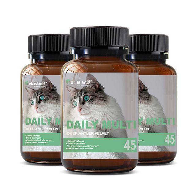 [해외] 펫아일랜드 데일리멀티 사슴녹용(고양이전용) 45캡슐