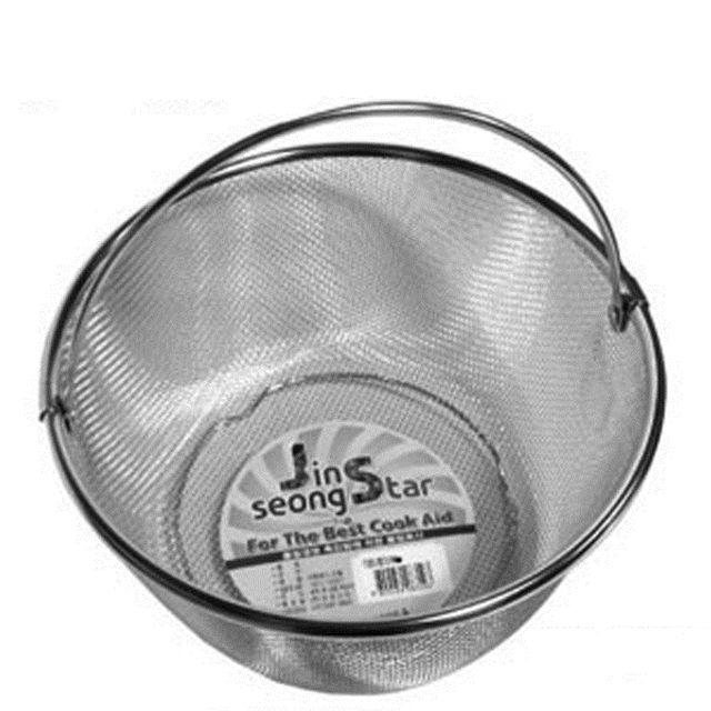 진성스타 스텐찜기 찜바구니 멀티바구니-24cm 채반 [제작 대량 도매 로고 인쇄 레이저 마킹 각인 나염 실크 uv 포장 공장 문의는 네이뽕]