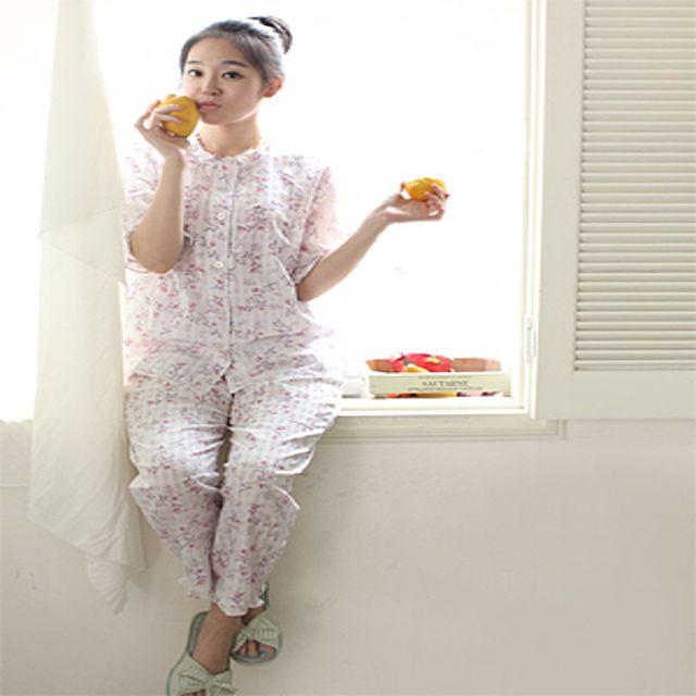 순면 잠옷 상하세트 (BS-82892) 잠옷 언더웨어 슬립웨어 잠옷세트 의류 가운