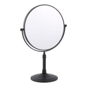 스탠드 양면 화장 거울 엔틱블랙 탁상 거울 메이크업