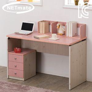 NETmate 입식 책상 1200x600x720 핑크 컴퓨터 테이블