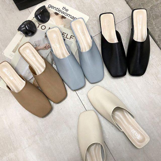W 여성 봄 패션 신발 신발 스타일 뮬 슬리퍼 코디