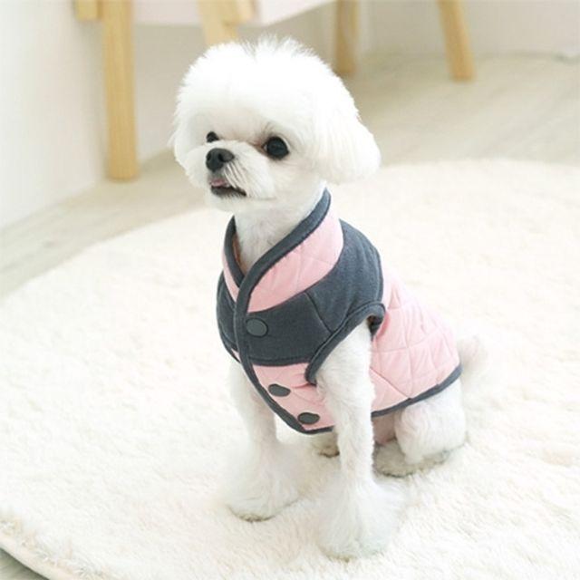 아이엠독 스코티쉬 패딩 핑크 강아지옷 애완용품
