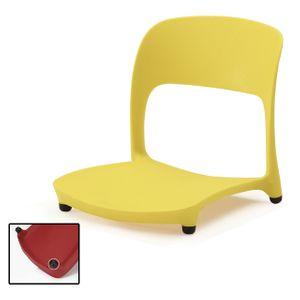 좌식 책상 등받이 의자 앉는 1인용 허리편한 업소용