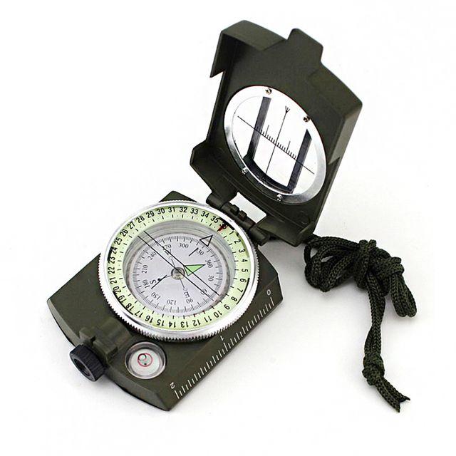 W 초밀도 군용 야광 접이식 거리측정 휴대용 나침반