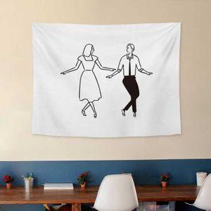 벽인테리어 가림막 포스터 춤추는 연인 패브릭 포스터