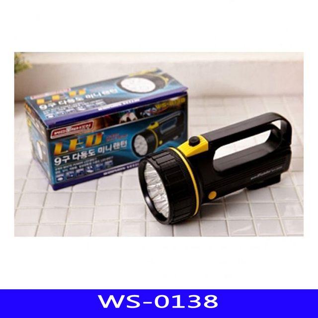WS 9구 LED 후레쉬 휴대용 낚시 1EA