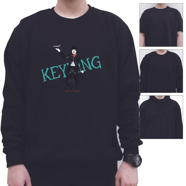 W 키밍 단체 HELLO 남성 여성 티셔츠 후드 맨투맨 반팔