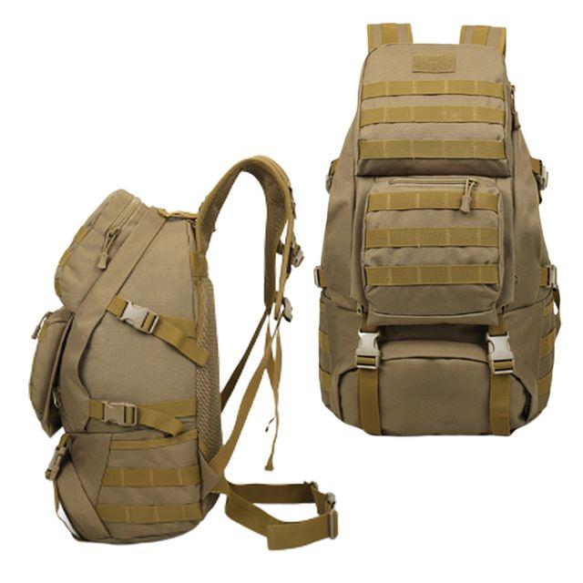 서바이벌 전술 백팩 낚시 등산 여행 베낭 가방 베이지