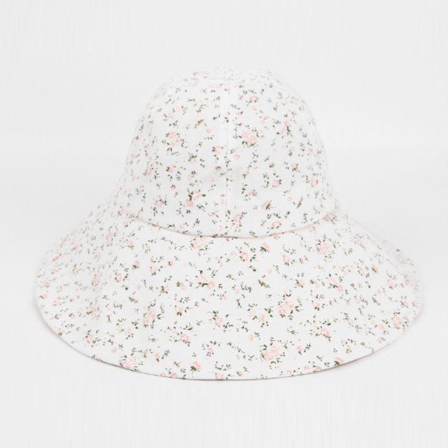 이쁜 잔꽃 벙거지 패션 모자 여름 휴가 여자 버킷햇