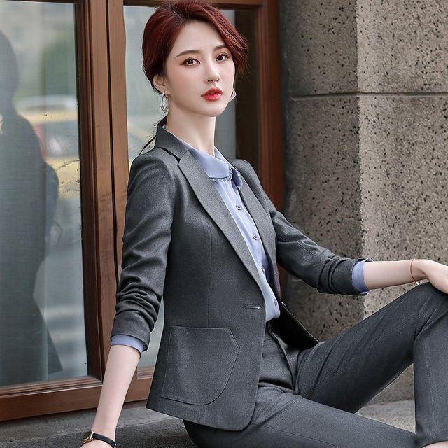 [해외] 여성 패션 재킷 자켓 정장세트기질 사무실 작업복