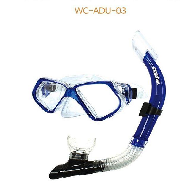 수경 물안경 스노클세트 시니어 파랑 해상스포츠