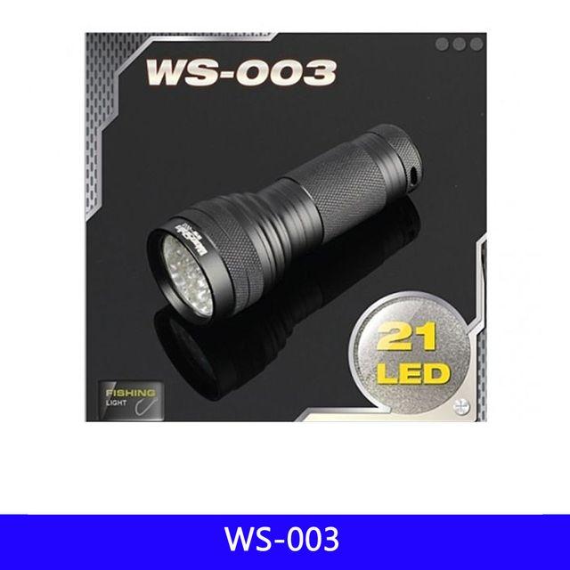 WS 21구 LED 후레쉬 휴대용 낚시 AAA-3 1EA