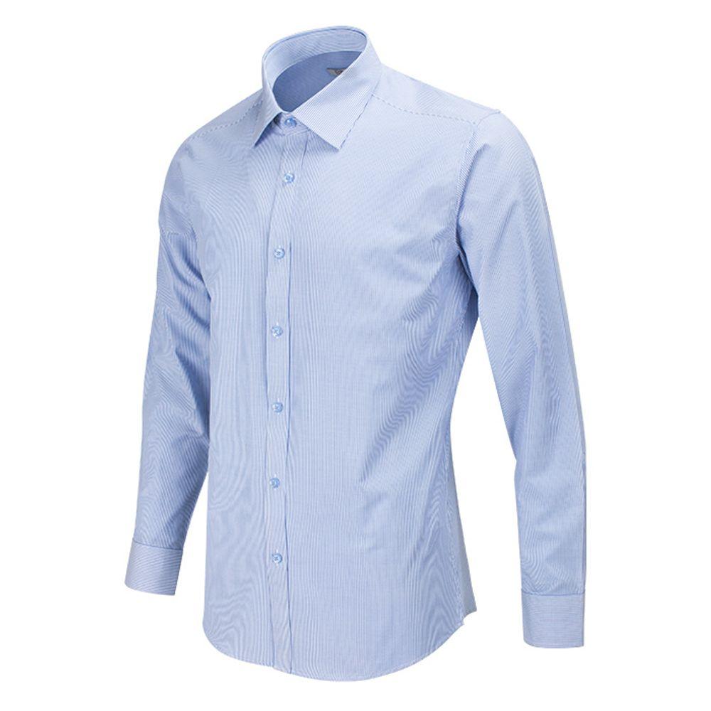 슬림 헤어라인 블루 셔츠 RFDA1009