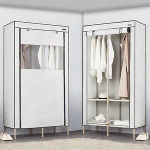 FM 윈도우 투명 커버 옷장 190 더블 라이트 그레이