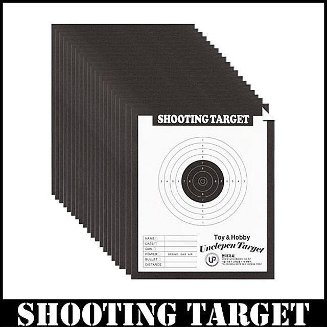 [더산쇼핑]타겟지 20장 타겟용지 타켓 TARGET 표적지 에어건 비비탄총 타켓지 종이 연습종이 비비탄연습종이